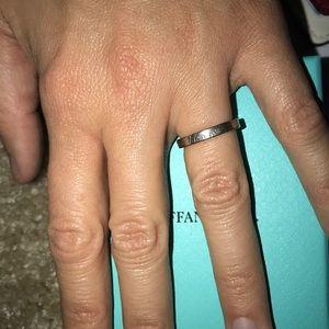 Tiffany & co I love you silver ring